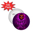 Happy Ghost Halloween 1.75  Buttons (100 pack)