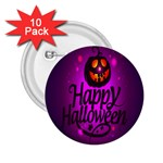 Happy Ghost Halloween 2.25  Buttons (10 pack)