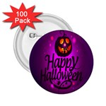 Happy Ghost Halloween 2.25  Buttons (100 pack)