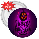 Happy Ghost Halloween 3  Buttons (10 pack)
