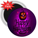Happy Ghost Halloween 3  Magnets (10 pack)