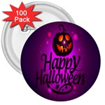Happy Ghost Halloween 3  Buttons (100 pack)