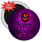 Happy Ghost Halloween 3  Magnets (100 pack)