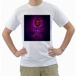 Happy Ghost Halloween Men s T-Shirt (White) (Two Sided)