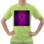 Happy Ghost Halloween Green T-Shirt