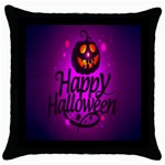 Happy Ghost Halloween Throw Pillow Case (Black)