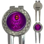 Happy Ghost Halloween 3-in-1 Golf Divots