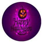 Happy Ghost Halloween Magnet 5  (Round)