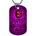 Happy Ghost Halloween Dog Tag (Two Sides)