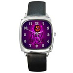 Happy Ghost Halloween Square Metal Watch