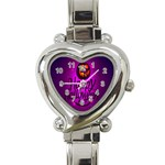 Happy Ghost Halloween Heart Italian Charm Watch