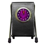 Happy Ghost Halloween Pen Holder Desk Clocks