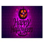 Happy Ghost Halloween Rectangular Jigsaw Puzzl