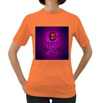 Happy Ghost Halloween Women s Dark T-Shirt
