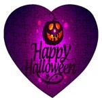 Happy Ghost Halloween Jigsaw Puzzle (Heart)