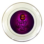 Happy Ghost Halloween Porcelain Plates