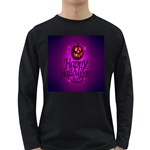 Happy Ghost Halloween Long Sleeve Dark T-Shirts