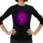 Happy Ghost Halloween Women s Long Sleeve Dark T-Shirts