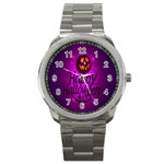 Happy Ghost Halloween Sport Metal Watch