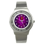Happy Ghost Halloween Stainless Steel Watch