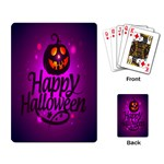 Happy Ghost Halloween Playing Card