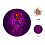 Happy Ghost Halloween Playing Cards (Round)