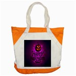 Happy Ghost Halloween Accent Tote Bag