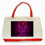 Happy Ghost Halloween Classic Tote Bag (Red)