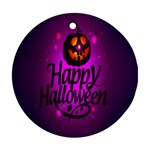 Happy Ghost Halloween Round Ornament (Two Sides)