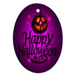 Happy Ghost Halloween Oval Ornament (Two Sides)