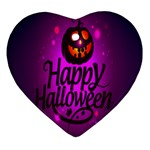 Happy Ghost Halloween Heart Ornament (Two Sides)