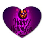 Happy Ghost Halloween Heart Mousepads