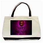 Happy Ghost Halloween Basic Tote Bag (Two Sides)