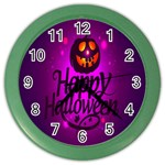Happy Ghost Halloween Color Wall Clocks