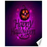 Happy Ghost Halloween Canvas 11  x 14