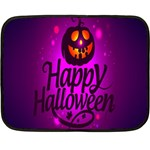 Happy Ghost Halloween Double Sided Fleece Blanket (Mini)