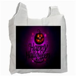 Happy Ghost Halloween Recycle Bag (One Side)
