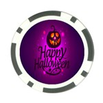 Happy Ghost Halloween Poker Chip Card Guard (10 pack)