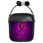 Happy Ghost Halloween Girls Sling Bags