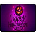 Happy Ghost Halloween Fleece Blanket (Medium)