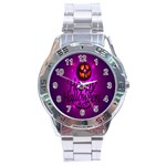Happy Ghost Halloween Stainless Steel Analogue Watch