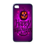 Happy Ghost Halloween Apple iPhone 4 Case (Black)