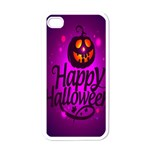 Happy Ghost Halloween Apple iPhone 4 Case (White)