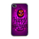 Happy Ghost Halloween Apple iPhone 4 Case (Clear)
