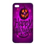 Happy Ghost Halloween Apple iPhone 4/4s Seamless Case (Black)