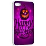 Happy Ghost Halloween Apple iPhone 4/4s Seamless Case (White)