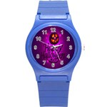 Happy Ghost Halloween Round Plastic Sport Watch (S)