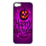 Happy Ghost Halloween Apple iPhone 5 Case (Silver)