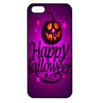 Happy Ghost Halloween Apple iPhone 5 Seamless Case (Black)