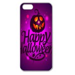Happy Ghost Halloween Apple Seamless iPhone 5 Case (Clear)